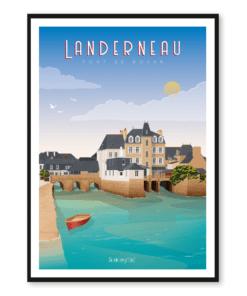 Affiche Landerneau - Pont de Rohan