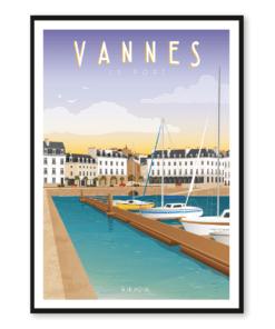 Affiche Vannes le port